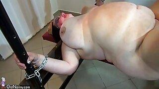 Mature girl enjoys bondage and rides a big strapon - 8:48