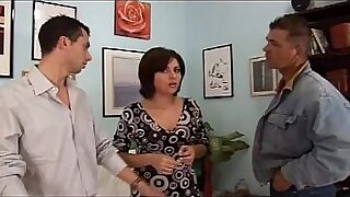 Tight ass wife Krystal sucks big dick and fucks next to porn guys - 38:14