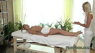 Beautiful Creampie, golden blonde pussy massage - 6:15