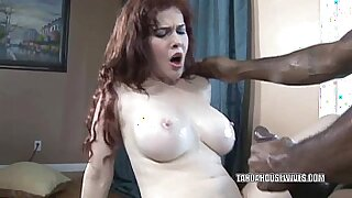 Busty housewife becomes horny and deepthroats huge black dick - 6:51