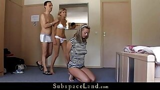 Corset Slave ex GF with Doc Vince fucked, mouth wenching - 5:33