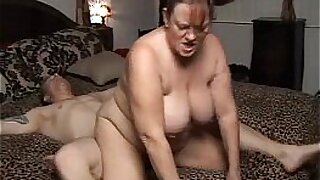 Sexy chubby mature cummed on and fucks massive cock and gets huge facial - 25:18