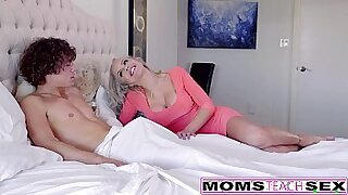 Threesome caught on video with cute blonde - 9:07