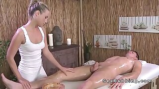 Blonde gives a head and a thai massage - 7:03