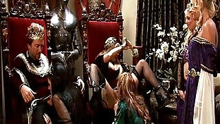 King and queen have a medieval orgy with four hot whores - 4:00