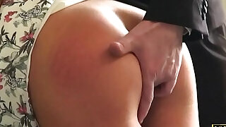 Spanked british blonde slut submitted into roughsex - 10:00