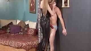 Goddess kyaa ballbusting and face fucking - 1:29