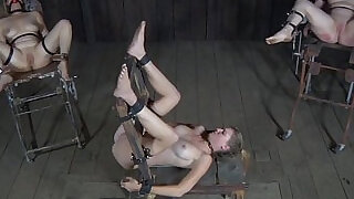 Restrained bdsm sub caned by black master - 6:00