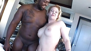 Mature blonde milf sucking and fucking black cock in Big Black Cock Video - 5:00