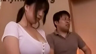 Japan sexy teen girl with curvy huge round tits - 19:00