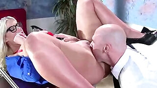 Office Sexy brunette Girl julie cash With Big Rounf Boobs Get Hard style Banged in office movie - 6:00
