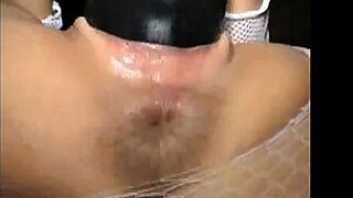 Two huge dildos stuffed in her loose pussy - 8:00