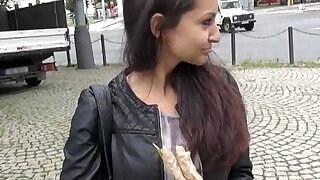 Eurobabe Lili Devil flashes tits and pounded for money - 6:00