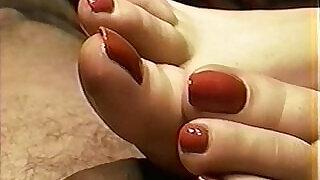 Cailleach Mara Red Nail Toejob Footjob - 11:00