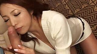 Subtitles Japanese school girl Kanako Tsuchiyo sucks dick - 10:00