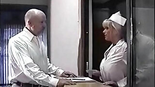 busty nurse ball gagged and breast fondled - 6:00