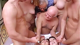 Crazy orgy with grandpa in a dirty and perverse family! - 45:00