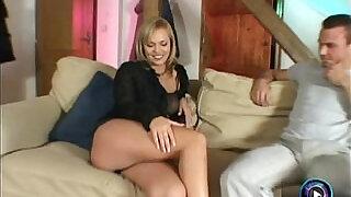 Alluring blonde Ellen Saint loves to please two huge cocks - 32:00