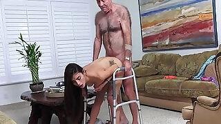 BLUE PILL MEN Grandpa Popping Pills and Fucking Tight Latina fingers Pussy! - 10:00