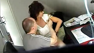 Video from hidden cam mature fucked really hard at office table - 7:00