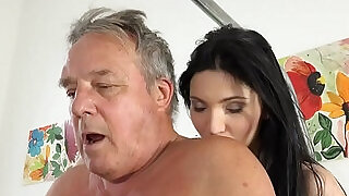Grandpa at the doctor fucks hot young nurses in old young threesome porn - 6:00