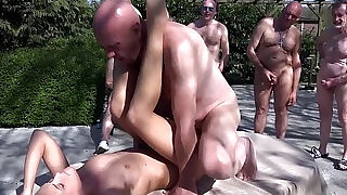 Six mad grandpas gangbang rich young blonde to revenge - 6:00
