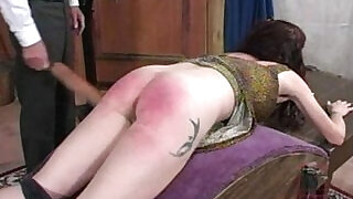 Angry words over her spanking - 2:00
