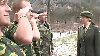 military lady gets soldiers cum - 13:00