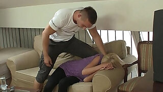 She screams as he fucks her rough and hard - 6:00