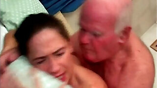 cutie does old hairy cock - 7:00