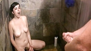 Big Cum Bath In The Shower - 9:00