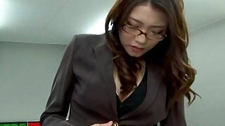Stressed out asian secretary toy fingered in the office - 6:00