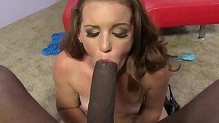 Emily Eve worships Mandingos cock balls - 5:00