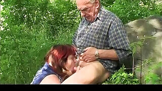 Granny and Grandpa fuck outdoor - 6:00