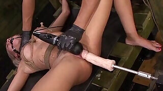 Marsha May Endures Rope Bondage, Fucking Machine, Deepthroat BJ,at BJ, Rough Sex - 8:00