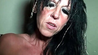 Big boobed amateur french mom hard style banged in a sex shop basement - 25:00