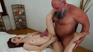 Older man fucks her younger massage client - 6:00