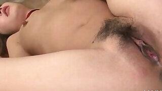 Redhead seductive asian babe having a strong orgasm - 5:00