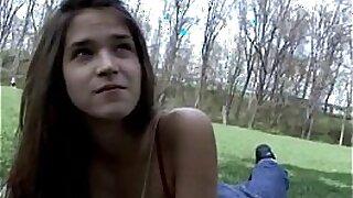 Teen beauty cutie Bjb beaten hard in the public - 8:03