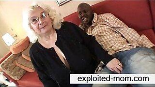 Granny feeds black cock - 5:41