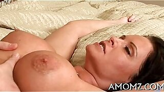 Hot mature lady fucks her cock with a vibrator - 5:57